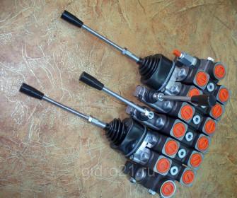 Моноблочный гидрораспределитель 6Р80 с джойстиками